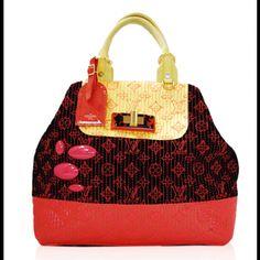 Louis Vuitton Neon Monogram Motard Firebird Bag