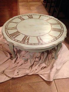 clock face coffee tableHome DecorPinterestClock Coffee