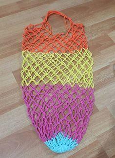 Örgü Pazar Filesi Yapımı - Jumbled Tutorial and Ideas Macrame Patterns, Easy Crochet Patterns, Net Making, Teapot Cover, Net Bag, Yarn Shop, Filets, Knitted Bags, Filet Crochet