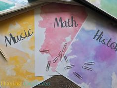 Personalized Watercolor Binder Covers - Notebook Covers - Custom Printable