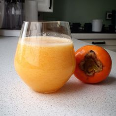 Persimmon, tangerine slices and water smoothie aids weight loss Smoothie, Wine Glass, Benefit, Alcoholic Drinks, Weight Loss, Photo And Video, Fruit, Amazing, Tableware