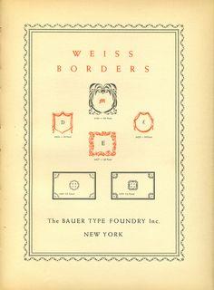 Weiss borders type specimen