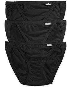 Jockey Elance String Bikini 3 Pack 1483 - Black 6