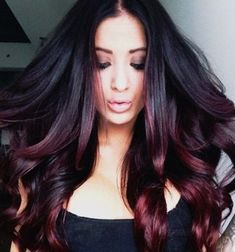 Stunning Ombre Hair Color Ideas for Blond, Red, Brown, and Black Hair Long Black…