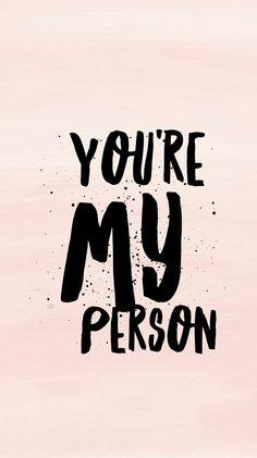 You're my person . Grey's Anatomy Wallpaper Quotes, Grey's Anatomy Wallpaper Iphone, Greys Anatomy Frases, Grey Anatomy Quotes, Grey Quotes, Youre My Person, Derek Shepherd, Grey Wallpaper, Sentences