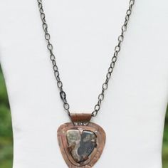 Yin-Yang-Stone-Copper-Gun-Metal-Neck-Chain