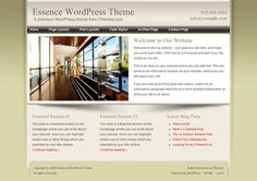 One of our most popular designs ever, Essence is a solid website WordPress theme, perfect for your small business site, that comes in 6 different color versions.