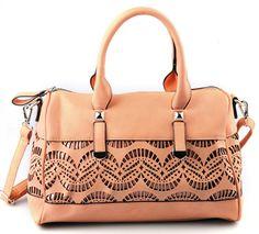 Pink PU Leather Handmade Bag