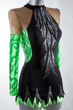 Rhythmic Gymnastics Leotard Ice Figure Skating Dress 115 by Modlen, $175.00