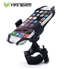 Yianerm brand MTB Bike Motorcycle Phone Holder Secure Clip Grip Bicycle Handlebar Phone Mount Bracket