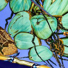 Hermes Silk Scarf Jardin Creole w/Box - Gorgeous