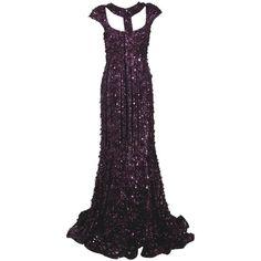 ELIE SAAB Sequin Embellished Gown ($9,800) ❤ liked on Polyvore featuring dresses, gowns, long dresses, elie saab, vestidos, women, long v neck dress, cut out dresses, sequin gown and sequin evening gowns