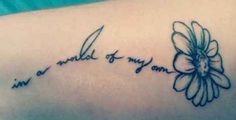 """Disney's Alice in Wonderland tattoo - """"Do you suppose she is a wildflower?"""""""