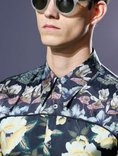 S/S 14 Dries Van Noten experiment with floral in menswear