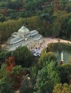 Palacio de Cristal, Parque del Retiro, Madrid, España
