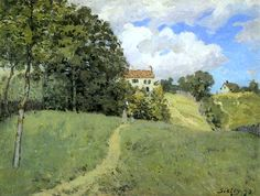 Landscape with Houses / Alfred Sisley - 1873