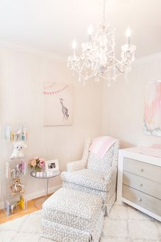 In the nursery with ali fedotowsky future планировка детской Bright Nursery, Pink And Gray Nursery, Blush Nursery, Floral Nursery, Nursery Room, Girl Nursery, Girls Bedroom, Nursery Decor, Nursery Ideas