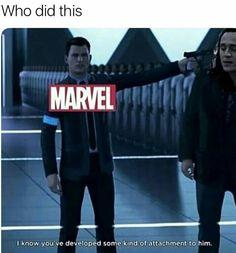 Detroit become human Connor marvel Loki is dead Loki is alive Marvel Avengers, Marvel Jokes, Funny Marvel Memes, Dc Memes, Avengers Memes, Funny Memes, Hilarious, Disney Memes, Marvel Universe