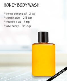 Softening honey body wash:  This unique moisturizing body wash would not strip your skin of its natural moisturizers. Instead, your skin would be pampered wi...