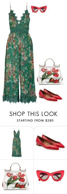 """Senza titolo #4954"" by marcellamic ❤ liked on Polyvore featuring Zimmermann, Malone Souliers and Dolce&Gabbana"