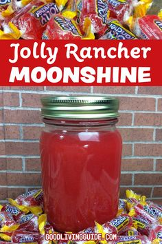 This Jolly Rancher Moonshine Recipe was inspired by my all-time favorite piece of hard candy! What could be better than a smooth drink that tastes l… - diy gifts for boyfriend, handmade gift ideas for friends, giftcraft, unique gifts diy, handmade gift i Jolly Rancher Moonshine Recipe, Jolly Rancher Drink, Jolly Rancher Flavors, Homemade Alcohol, Homemade Liquor, Homemade Gifts, Moon Shine, Fun Drinks, Yummy Drinks