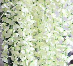 50 Pcs Single Artificial Fake Wisteria Vine Ratta Silk Flower for Garden and Home Decor White, http://www.amazon.com/dp/B010D1MXFA/ref=cm_sw_r_pi_awdm_x_bF6Pxb6YWSN7S