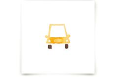 Yellow Car Art by Jan Dolby at minted.com
