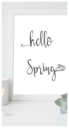 Spring Home decor, Spring Printable, Minimalist Home Decor, Typography Print, Country Home Decor, Easter Home Decor, Neutral Home Decor #ad
