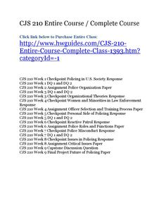 Cjs 210 entire course