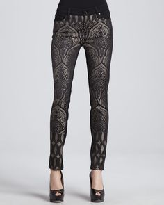 7 For All Mankind The Pieced Slim Illusion Art Nouveau Jacquard Jeans