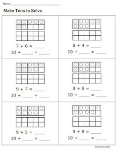 Make tens to solve, addition automaticity...for thos who need reteach after lesson this is fantastic!