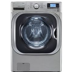 LG�5.2-cu ft High-Efficiency Front-Load Washer with Steam Cycle (Graphite Steel) ENERGY STAR  Top rated consumer reports