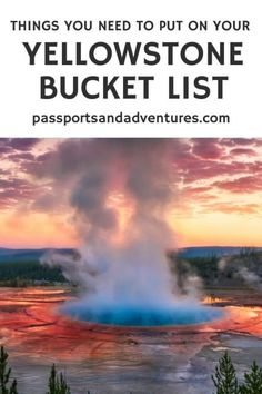 Discover how to plan a visit to Yellowstone National Park, with kids or without. You'll find a list of things to do to put on your Yellowstone itinerary and learn what we put on our Yellowstone Bucket List. Enjoy summer in Yellowstone and see anima Yellowstone Nationalpark, Visit Yellowstone, Yellowstone Vacation, Yellowstone Park, National Park Camping, Us National Parks, Grand Teton National Park, Alaska Travel, Alaska Cruise