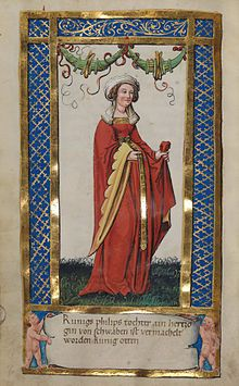 Madame de Pompadour — Illustrations of members of the German Royal House. Medieval Fashion, Medieval Clothing, Medieval Costume, Medieval Art, Illuminated Letters, Illuminated Manuscript, Renaissance, Friedrich Ii, Medieval Paintings