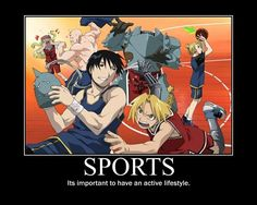 Sports - It's important to have an active lifestyle.
