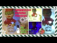 Lampara Muñeco de Nieve con botellas plásticas (Reciclaje) 🎅🎄/DIY  Snowman in Plastic Bottle - YouTube