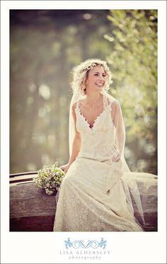 Wedding gown: Claire Pettibone 'Constance' www.clairepettibo... via The White Closet in West Didsbury - Photo: @Lisa Aldersley