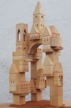 """ Handmade wooden toy Castle building blocks "" #woodentoy"