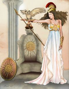 Athena goddess of battle and wisdom