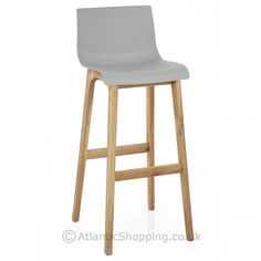 Drift Oak & Grey Bar Stool - Atlantic Shopping £59.99