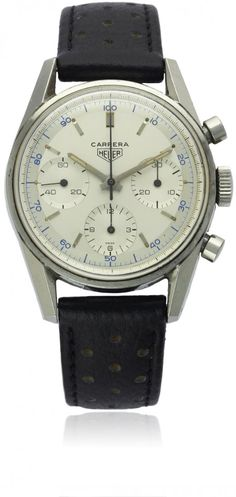 HEUER 'DECI' CHRONOGRAPH. Before there was Tag Heuer, there was Heuer. Highly sought after by those in the know.