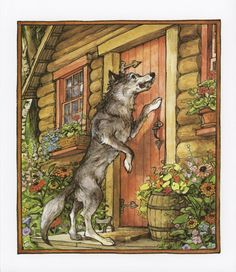 Image detail for -The Wolf Arrives, Little Red Riding Hood, Big Bad Wolf, Illustrated By ...
