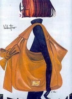 Fashion Illustration by Ruben Toledo. Nordstrom Ads   Interior Design Files