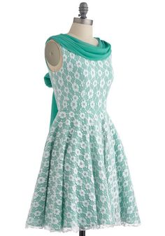 Wintergreen Gala Dress, #ModCloth  So pretty! Wish I could have it and have something to wear it too!