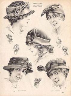 Шляпки начала ХХ века, 1910-е годы.