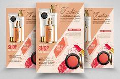 Beauty Make-up / Cosmetic Flyer Web Design, Flyer Design, Graphic Design Templates, Print Templates, Event Agency, Makeup Ads, Cosmetic Design, Sale Flyer, Business Design