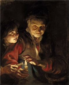 Night Scene (Peter Paul Rubens). What's that smell? Grandma's arthritic paraesthesia gives her flame-defying superpowers.