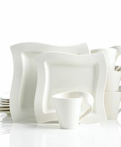 Villeroy & Boch Dinnerware, New Wave 12 Piece Set   4 dinner plates 4 salad plates 4 coffee mugs  Reg. $444.00 Was $219.99 Sale $207.99 till 2/17/14