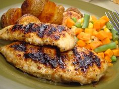 EASY!!! Mrs. Dash Grilled Honey Dijon Chicken