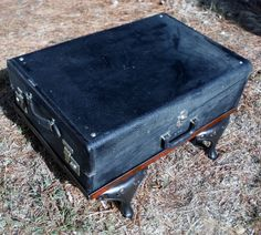 Antique Latch Suitcase Case Box Wardrobe for Coffee Table with Iron Stove Legs by dustybunnyranch on Etsy https://www.etsy.com/listing/253644570/antique-latch-suitcase-case-box-wardrobe